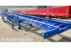 Tri Axle Chassis Trailer will be sent to Senegal Dakar