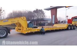 80Ton Removable Gooseneck Trailer will be sent to Kenya Mombasa on February 4