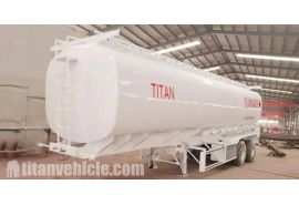 2 Axle 40000 liters Fuel Tanker Trailer will be sent to Zimbabwe Harare