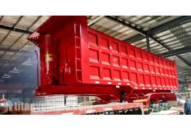 80 Ton Dump Tipper Trailer will be sent to Mozambique