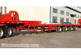 Extendable Windmill Blade Transport Trailer is testing and will be sent to Vietnam Danan