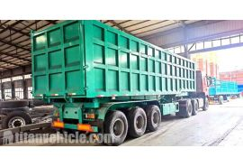 60T Dump Trailer will be sent to Mauritania Nouakchott