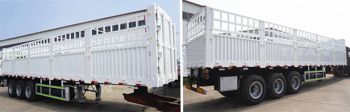 Fence Semi Trailer for Sale | 60T Stake Cargo Semi Trailer Spot Promotion Prices