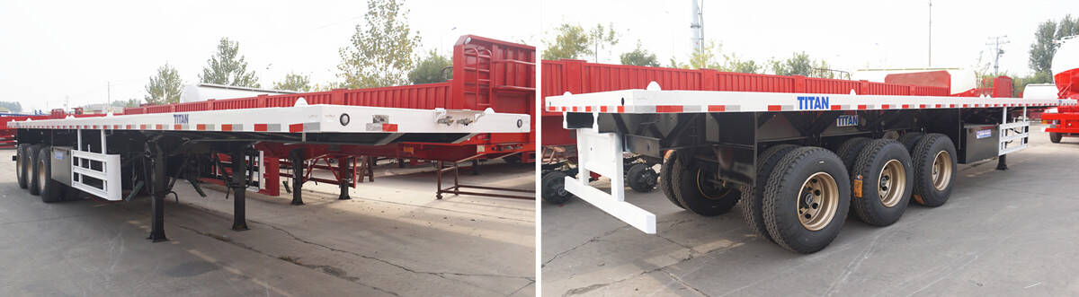 Tri Axle Trailer for Sale | 3 Axle 40ft Flatbed Trailer Spot 500USD Off Discount Prices