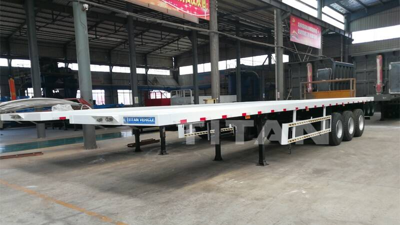 3 axle flatbed trailer