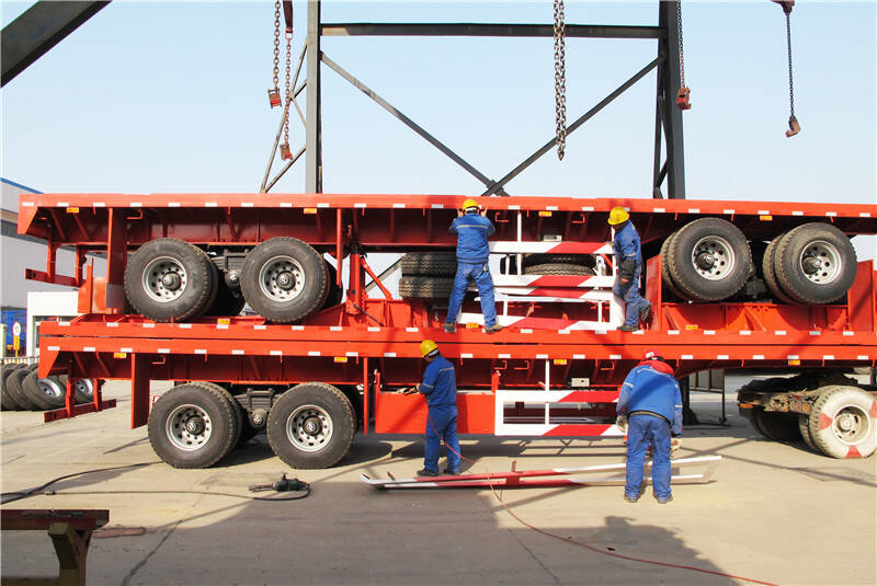 Bogie Suspension Flatbed Trailer