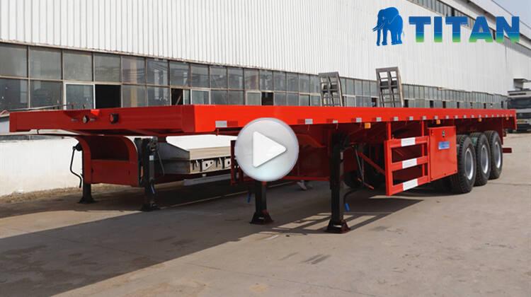Flatbed semi trailer