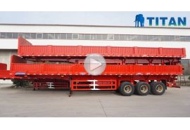 3 axle sidewall semi trailer