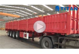 4 axle sidewall semi trailer